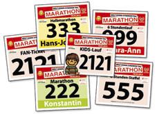 Startnummern für Charity-Lauf