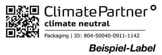 Ihre klimaneutralen Druckprodukte werden mit einem Label gekennzeichnet. Über einen CR-Code bzw. ID-Nummer kann die neutralisierte CO2-Menge eingesehen werden.