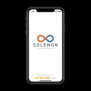 SOLEMON - APP - Welcome-Seite