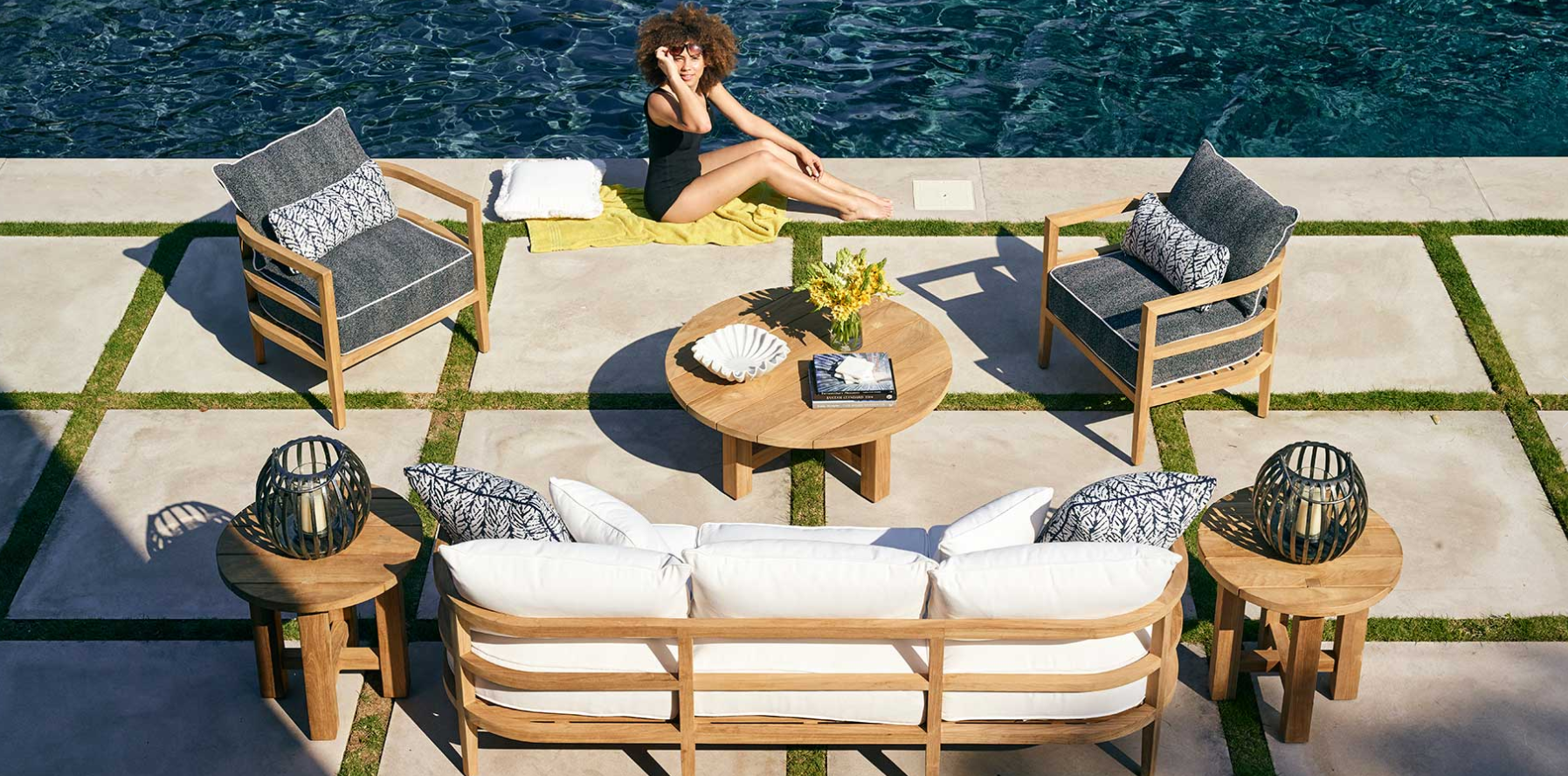 Summer Classics Santa Barbara Collection Outdoor Furniture Set