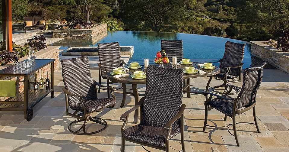 Tropitone montreux woven outdoor furniture