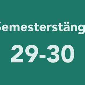 Semesterstängt vecka 29 och 30.