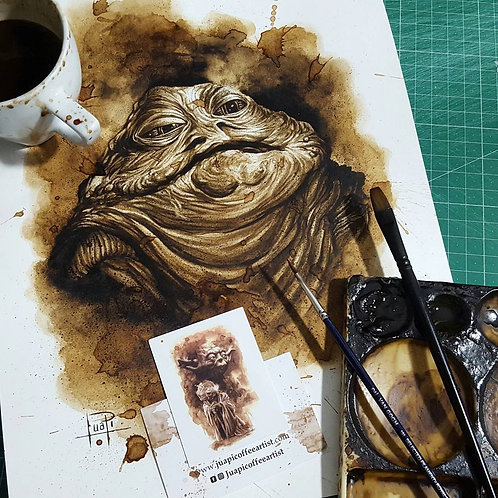 Jabba the Hutt - Original Coffee Art