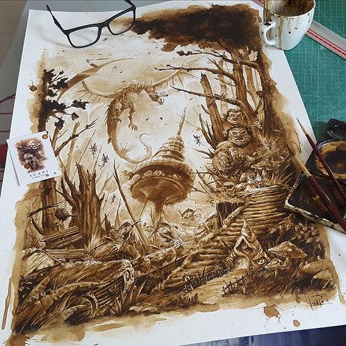 Madrid en mil años-Coffee Art