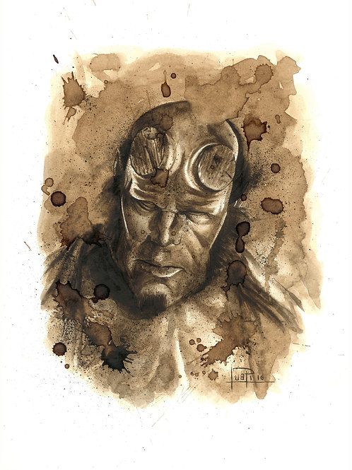 Hellboy-Coffee art