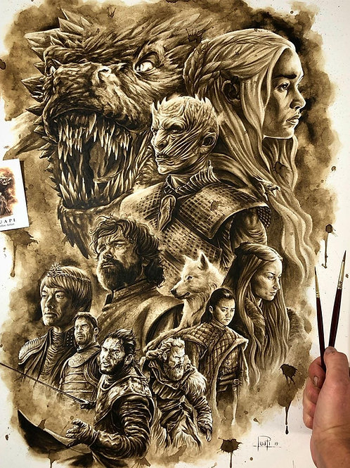 Game of Thrones-Coffee Art