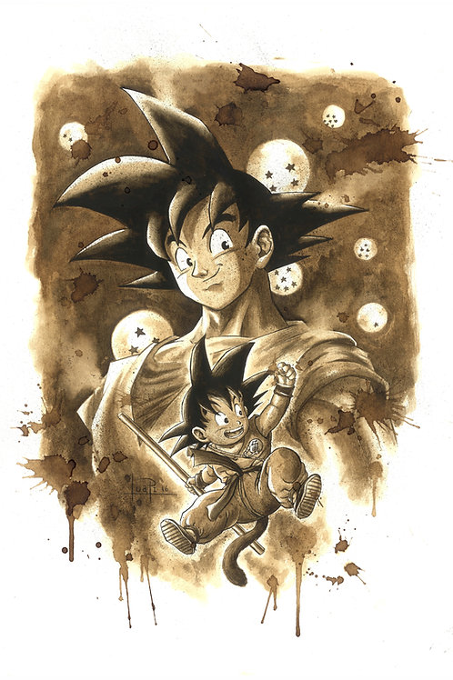 Goku-Coffee art