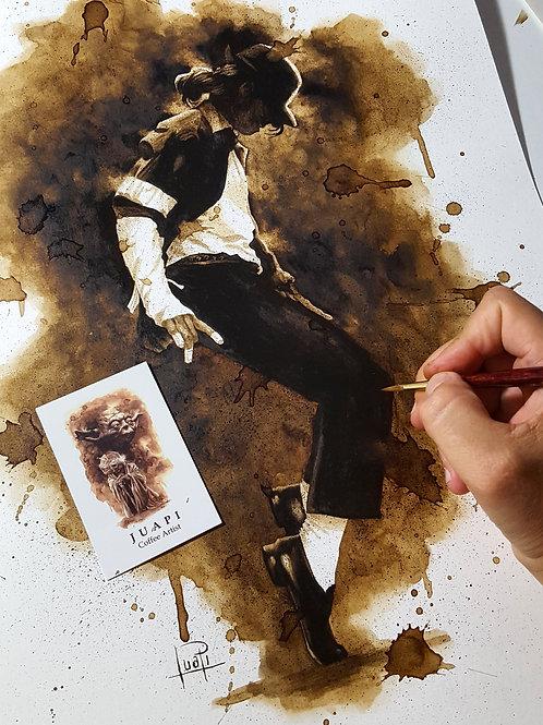 Michael Jackson-Coffee Art