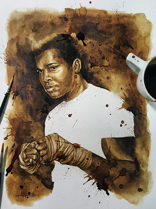 Muhammad Ali - Original Coffee Art