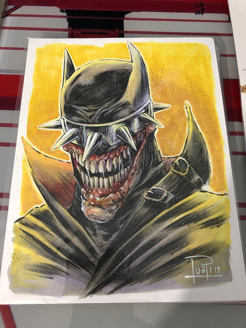 Batman who laughs - Copic, Watercolor, Posca & Prismacolor