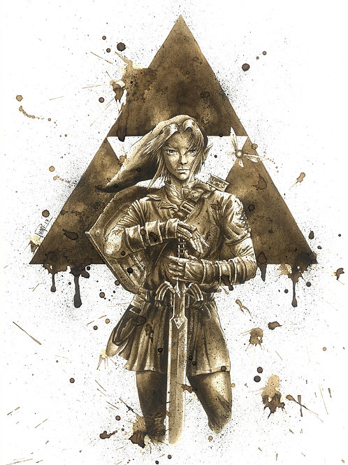 Link Zelda-Coffee Art