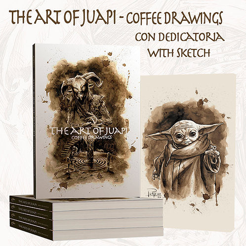 The art of Juapi - Coffee Drawings con dedicatoria