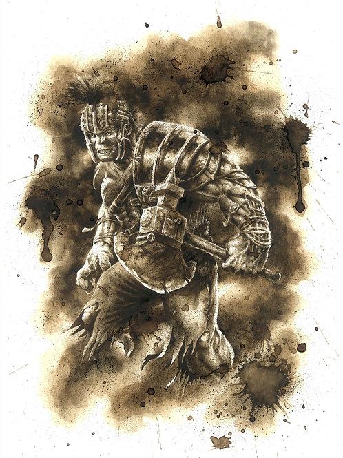 Hulk Ragnarok-Coffee Art