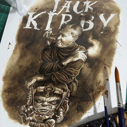 Jack Kirby (homenaje) - Original Coffee Art