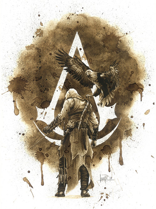 Assassins Creed-Coffee Art
