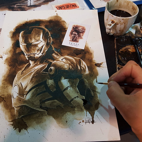 Ironman-Coffee Art
