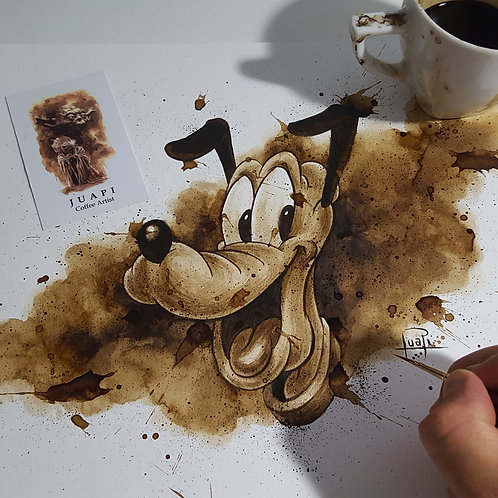 Pluto - Original Coffee Art