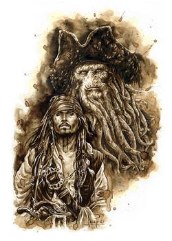 Jack sparrow y Davy Jones