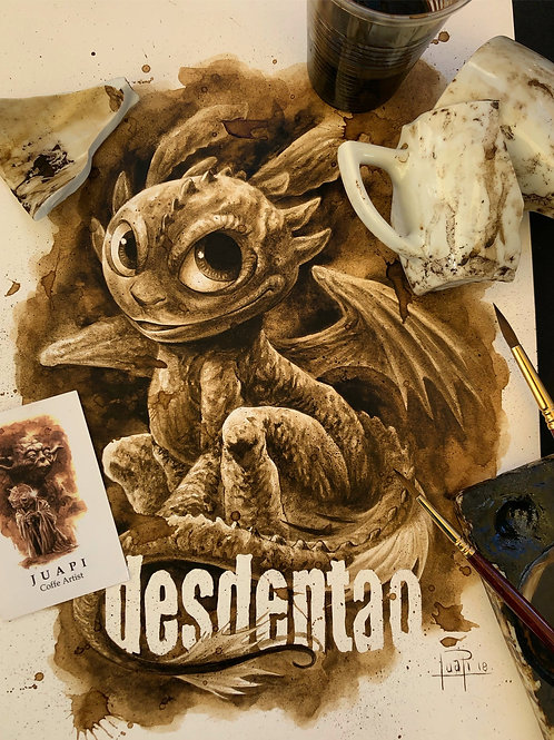 Baby Desdentao - Original Coffee Art