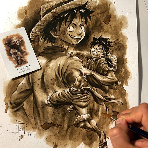Monkey d Luffy-Coffee Art