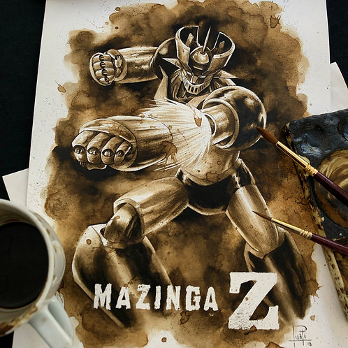 Mazinga Z- Original Coffee Art