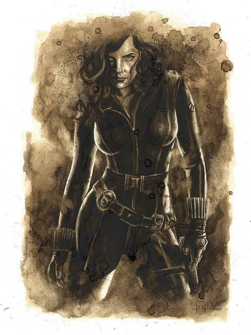 Black Widow-Coffee art