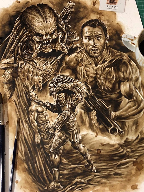 Predator -Coffee Art