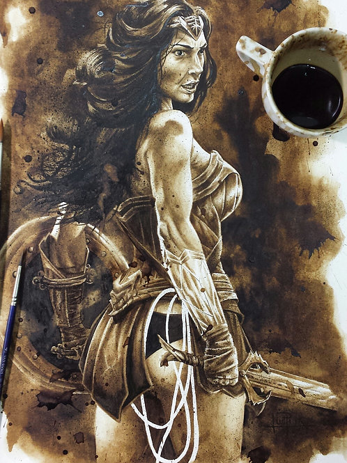 Wonder Woman-Coffee Art