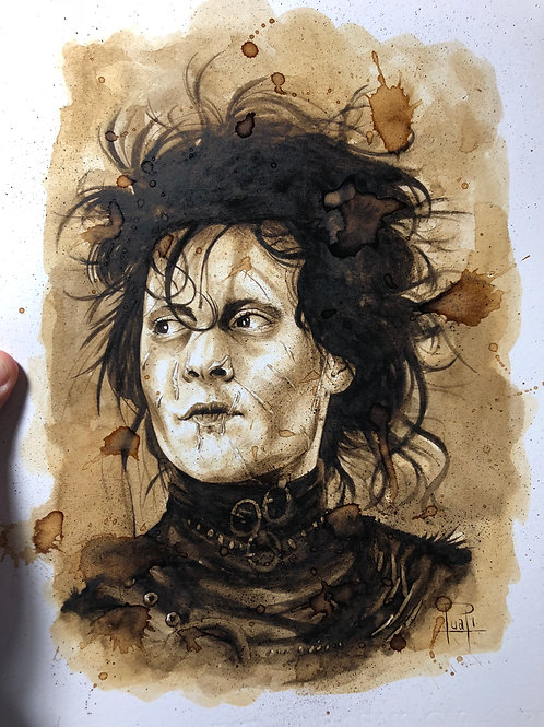 Edward Scissorhands-Coffee Art