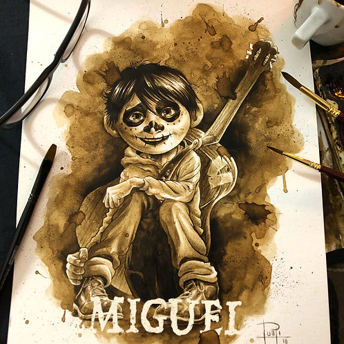 Miguel (Coco) - Original Coffee Art