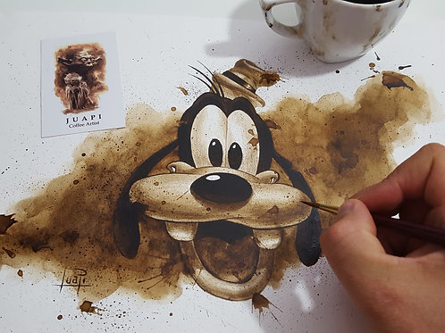 Goofy - Original Coffee Art