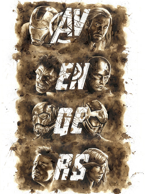 Avengers-Coffee Art