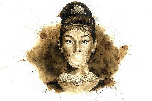 Audrey Hepburn-Coffee Art