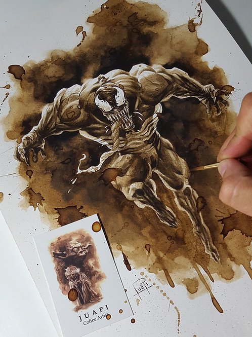 Venom - Original Coffee Art