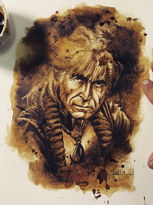Khan Noonien Singh - Original Coffee Art