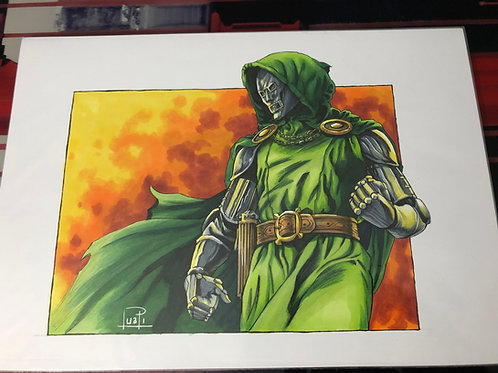 Dr. Doom - Copic & Ink