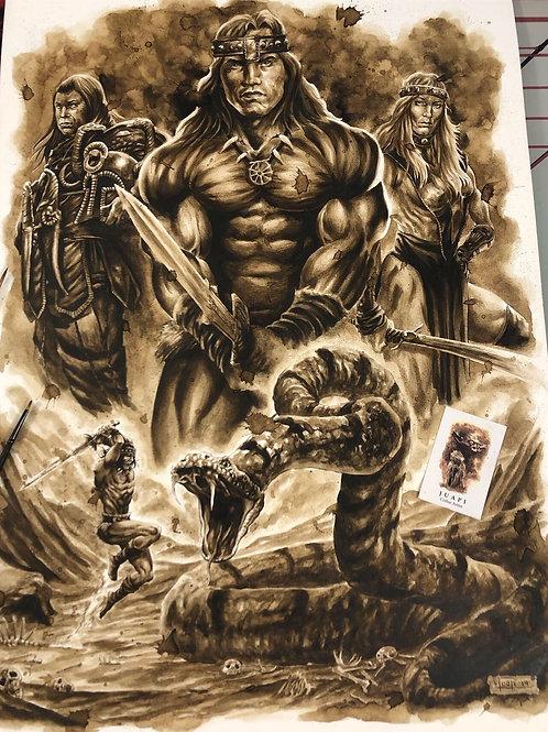 Conan the barbarian-Coffee Art
