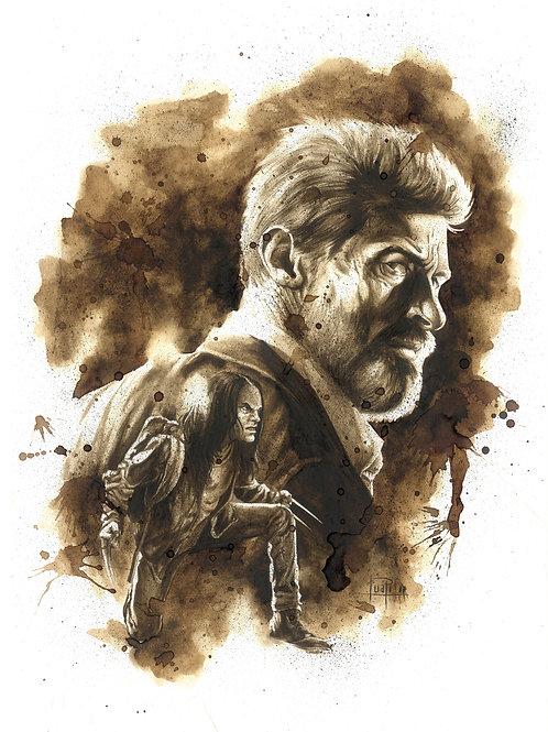Logan y X-23-Coffee art