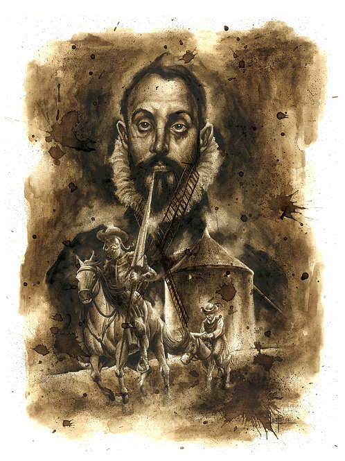 Cervantes-Quijote-Coffee Art