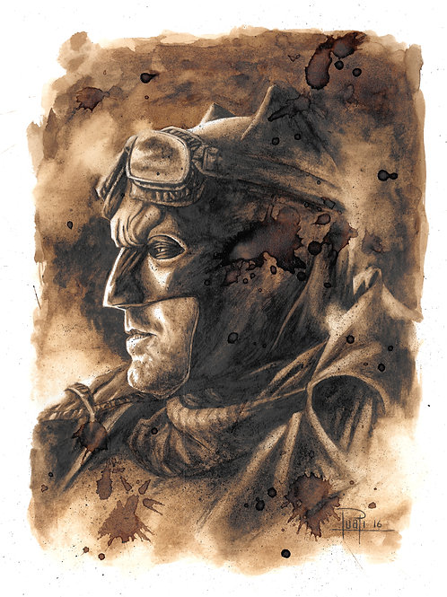 Batman (Afleck)-Coffee Art