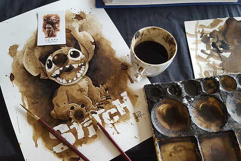 Stitch-Coffee Art