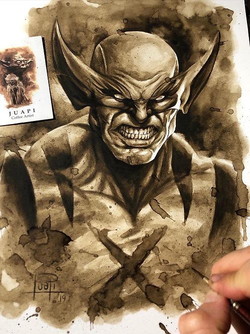 Wolverine - Original Coffee Art