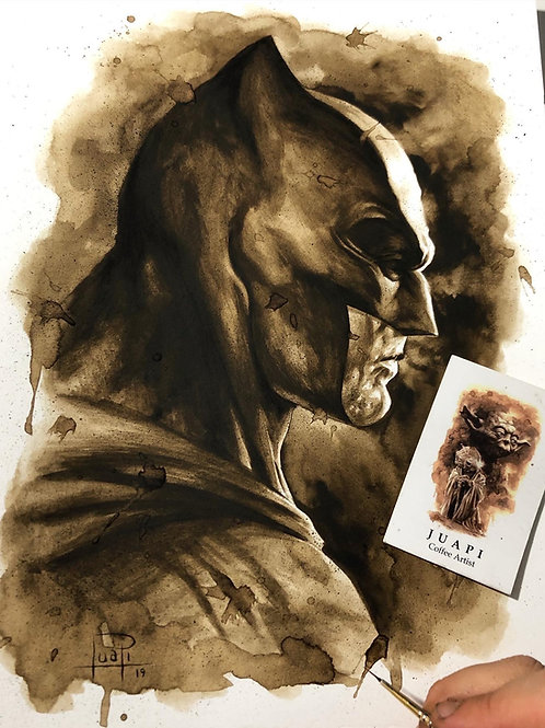 Batman Perfil - Coffee Art