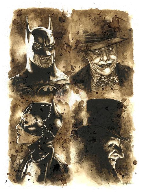 Batman Tim Burton-Coffee Art