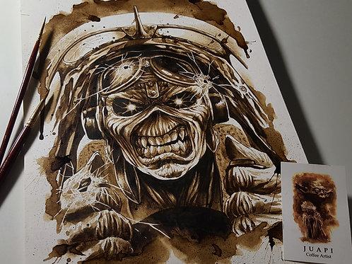 Eddie (Iron Maiden)-Coffee Art