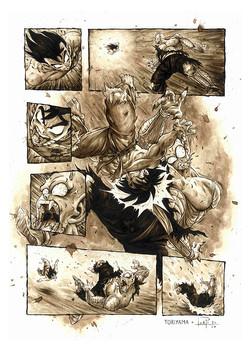 Dragon ball pagina comic