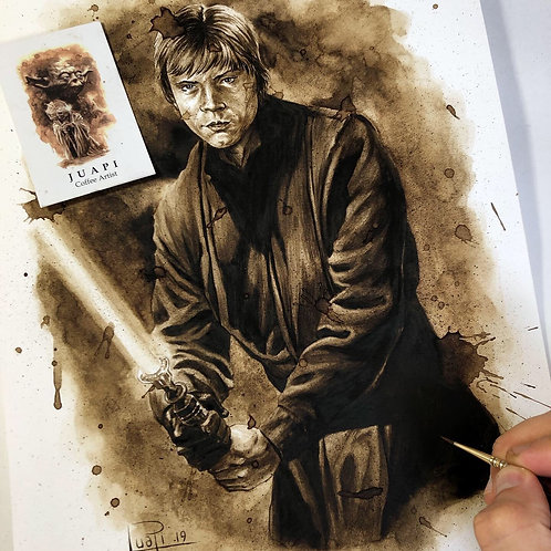 Luke Skywalker Jedi-Coffee Art