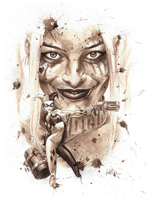 Harley Quinn-Coffee Art
