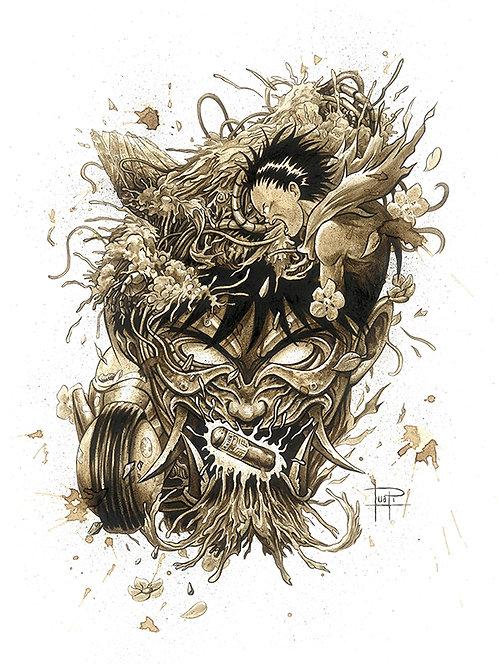 Akira Mask-Coffee Art