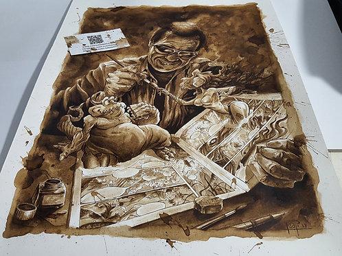 Azpiri (homenaje) - Original Coffee Art